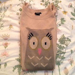 Sequin Hearts owl sweater dress small